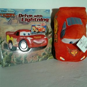 Other - Driving with lightning set book and pillow